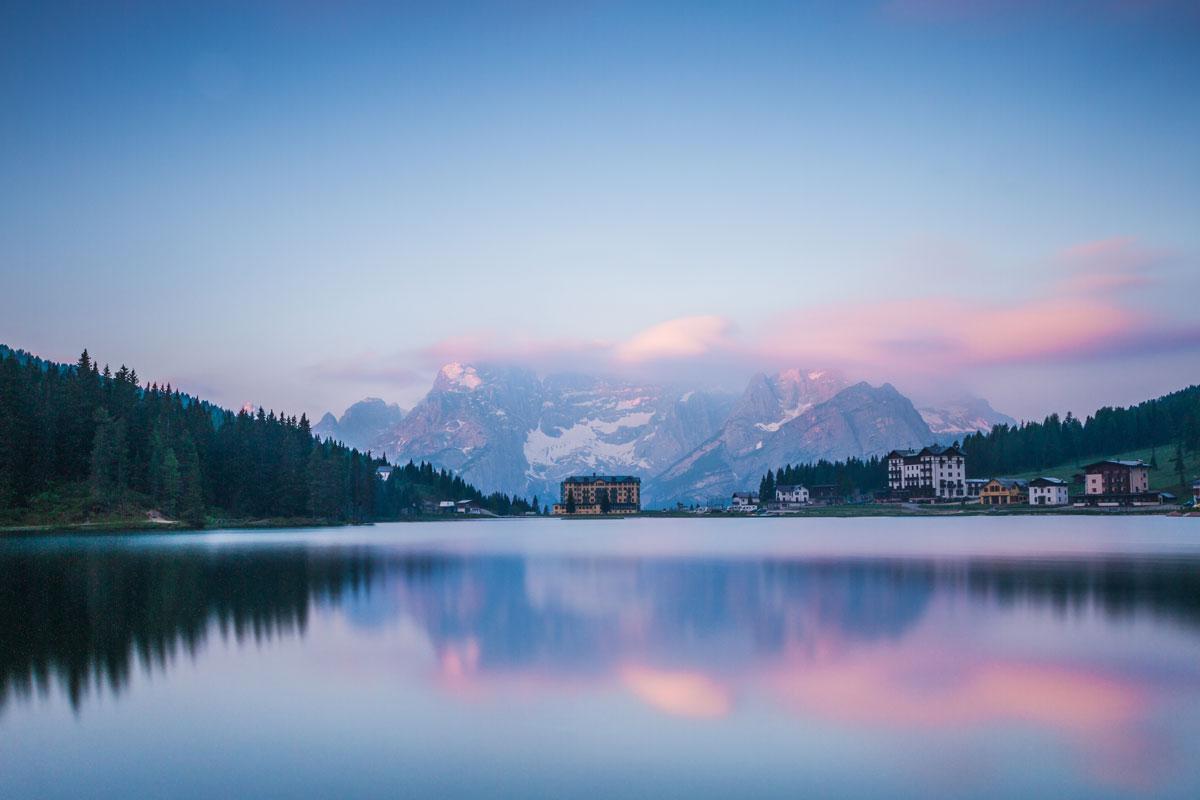 Fotografie di laghi, paesaggi